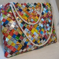 bag made from plastic waste.