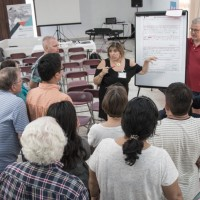 "An important part of the ""Accelerating Church Planting Project"" is providing effective training systems.   This picture was taken as a cluster of church plant teams were sharing their visions with one another at an M4 Learning Community in Spain."
